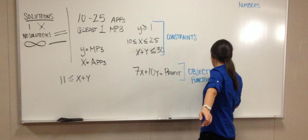 Math Education student teaches in a local high school.